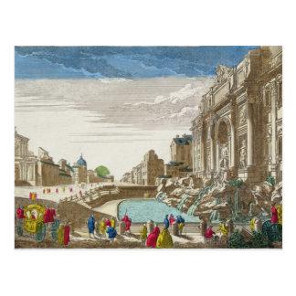 Cartão Postal A fonte do Trevi, Roma