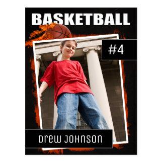 Cartão Postal A foto do basquetebol ostenta o cromo de colecção