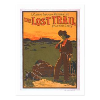 Cartão Postal A fuga perdida - vida ocidental do drama da
