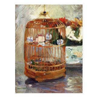 Cartão Postal A gaiola por Berthe Morisot