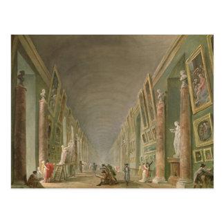 Cartão Postal A galeria grande do Louvre