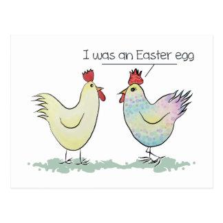 Cartão Postal A galinha engraçada era um ovo da páscoa