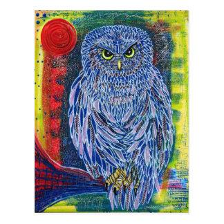 Cartão Postal A grande coruja