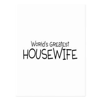 Cartão Postal A grande dona de casa dos mundos