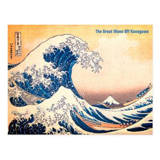 Cartão Postal A grande onda