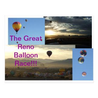 Cartão Postal A grande raça do balão de Reno!!!