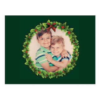 Cartão Postal A grinalda feita sob encomenda do Natal adiciona