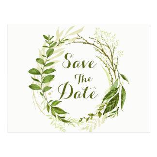 Cartão Postal A grinalda & os louros verdes salvar o casamento