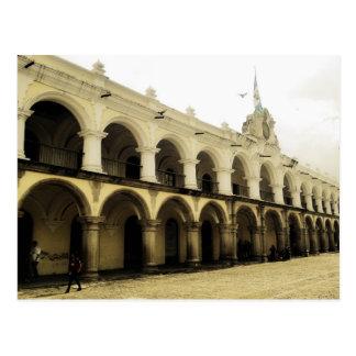 Cartão Postal A guarda do capitão em Antígua Guatemala