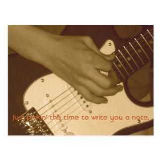 Cartão Postal A guitarra de Jon