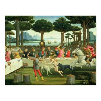 Cartão Postal A história do degli Onesti de Nastagio