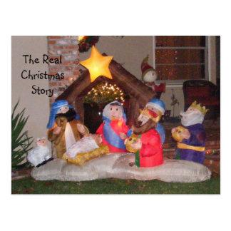 Cartão Postal A história real do Natal