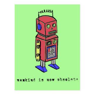 Cartão Postal A humanidade é agora obsoleta