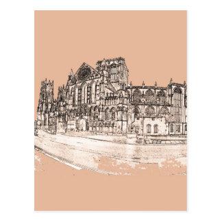 Cartão Postal A igreja de York