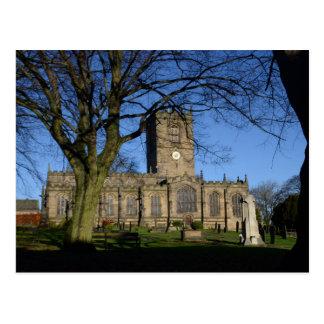Cartão Postal A igreja Ecclesfield. de St Mary