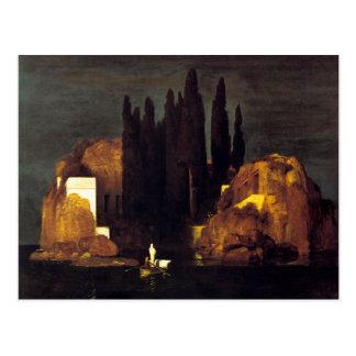 Cartão Postal A ilha do morto por Arnold Böcklin