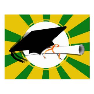 Cartão Postal A inclinação do boné do formando com escola colore