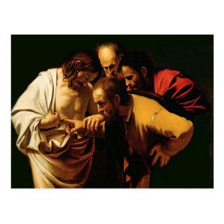Cartão Postal A incredulidade de St Thomas, 1602-03