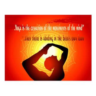 """Cartão Postal A """"ioga é a cessação dos movimentos da mente """""""