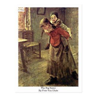 Cartão Postal A irmã mais velha por Fritz Von Uhde