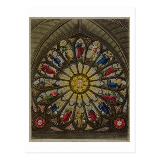 Cartão Postal A janela norte, placa D 'de Westminster Abbey