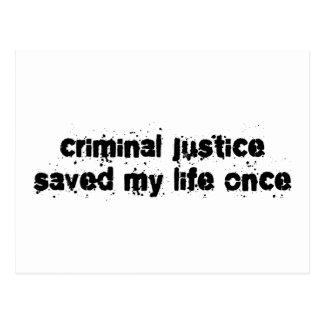Cartão Postal A justiça penal salvar minha vida uma vez