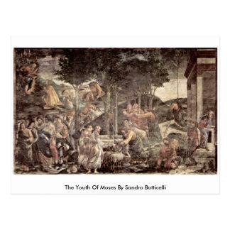 Cartão Postal A juventude de Moses por Sandro Botticelli