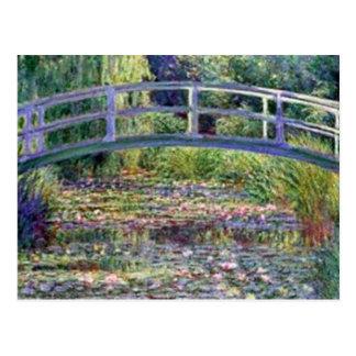 Cartão Postal A lagoa do lírio de água por Claude Monet