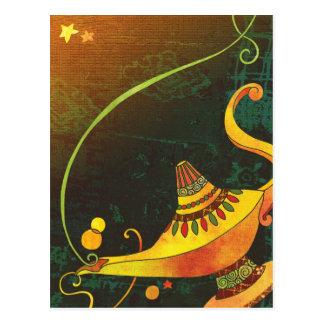 Cartão Postal A lâmpada do Genie