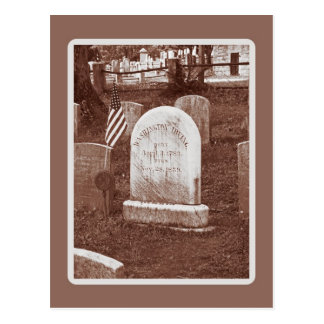 Cartão Postal A lápide de Washington Irving
