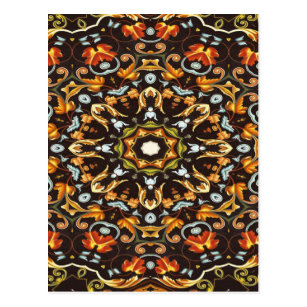 Cartão Postal A laranja chique de Zendala do hippy sae da 514ab1aa86b