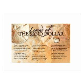 Cartão Postal A legenda do dólar de areia