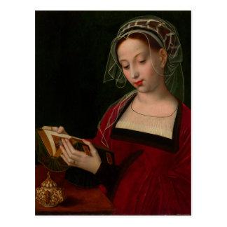 Cartão Postal A leitura de Magdalen por Ambrosius Benson