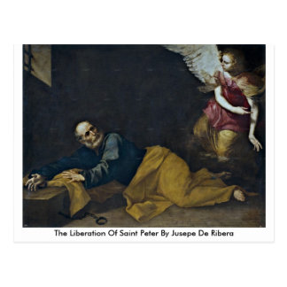 Cartão Postal A libertação de St Peter por Jusepe De Ribera