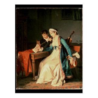 Cartão Postal A lição de música, 1790