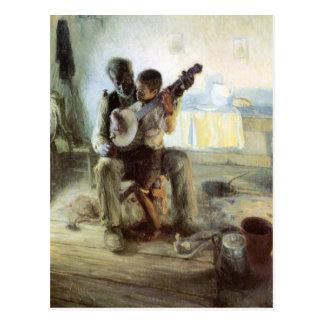 Cartão Postal A lição do banjo