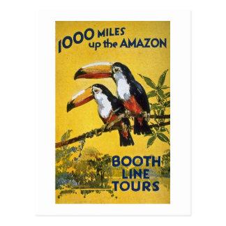 Cartão Postal A linha da cabine visita 1.000 milhas acima dos