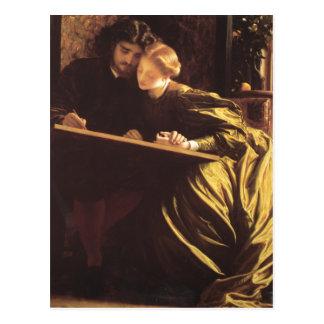 Cartão Postal A lua de mel do pintor - senhor Frederic Leighton