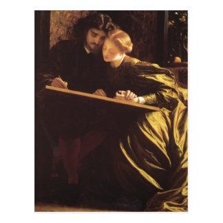 Cartão Postal A lua de mel do pintor - senhor Frederick Leighton