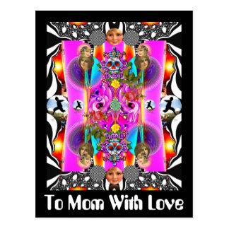 Cartão Postal À mamã com amor