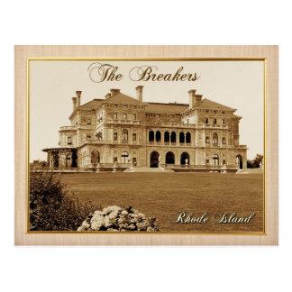 Cartão Postal A mansão dos disjuntores em Newport, Rhode - ilha