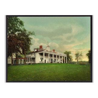 Cartão Postal A mansão, Mount Vernon Photochrom raro