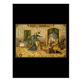 Cartão Postal A mão escondida original Co. de Whiteley