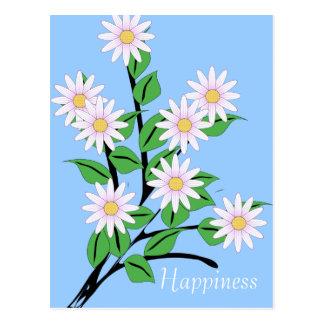 Cartão Postal A margarida da dança floresce a felicidade