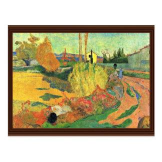 Cartão Postal A massa de Arles por Gauguin Paul (a melhor