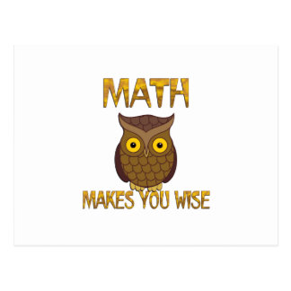 Cartão Postal A matemática fá-lo sábio
