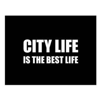 Cartão Postal A melhor vida da vida urbana