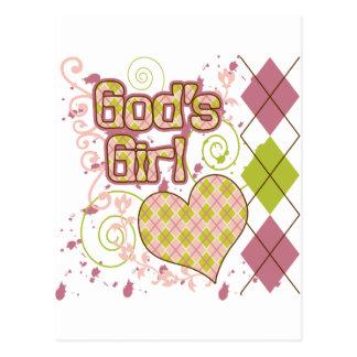 Cartão Postal A menina do deus