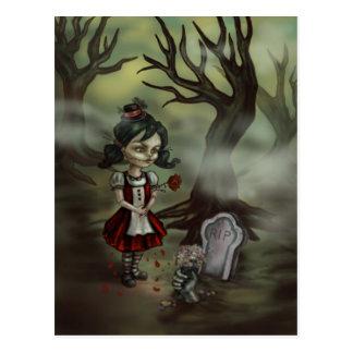 Cartão Postal A menina do zombi encontra o amor verdadeiro em um