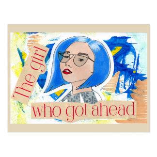 Cartão Postal A menina que obteve adiante
